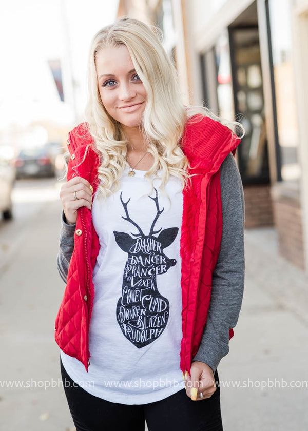 Reindeer Games - Long Sleeve Elbow Patch - BAD HABIT BOUTIQUE