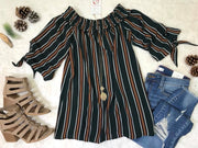 The striped top with tie accents is one of the BHB girls new favorite!