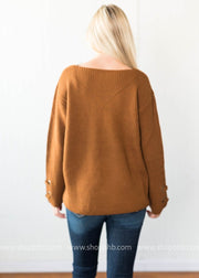 Vneck Cable Sweater