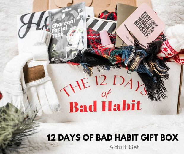 12 Days Of CHRISTMAS GIFT BOX 2019 | SHIPS Dec 16th, 12 DAYS, BAD HABIT BOUTIQUE, BAD HABIT BOUTIQUE