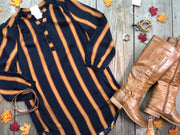 Striped Tshirt Dress | Navy