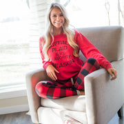 Buffalo Plaid is my favorite season sweatshirt, CHRISTMAS, GRAPHICS, badhabitboutique