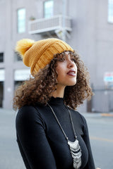 Knitted Pom Pom Beanie, ACCESSORIES, Leto, BAD HABIT BOUTIQUE