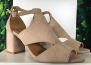 Open Toe Strap Block Heel - FINAL SALE