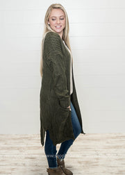 Long Sweater Cardigan, WHAT'S NEW, vendor-unknown, badhabitboutique