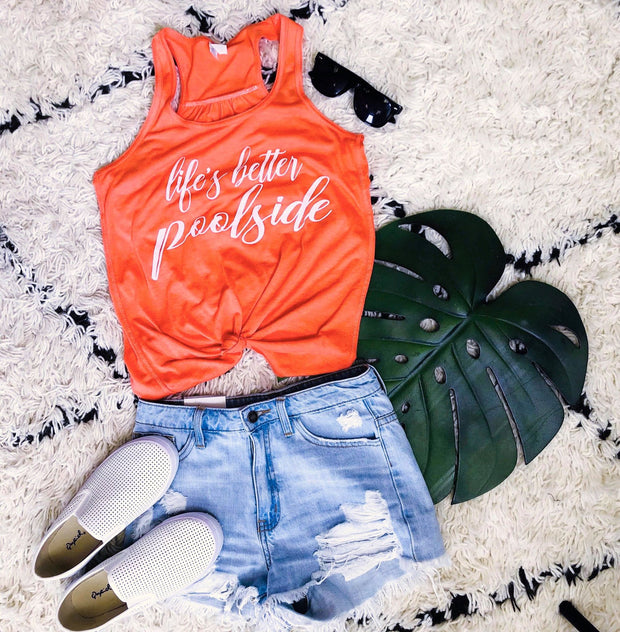 Life is Better PoolSide Tank Top, CLOTHING, BAD HABIT APPAREL, BAD HABIT BOUTIQUE