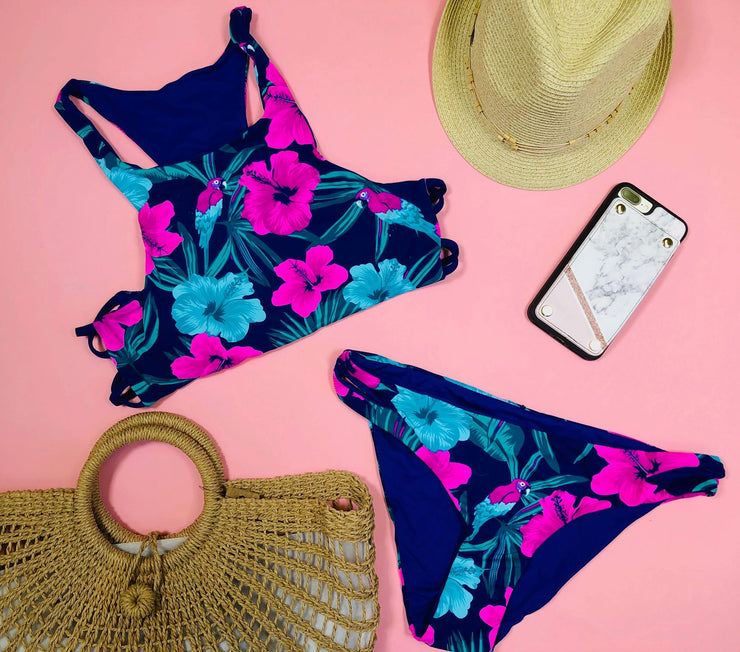 Aloha Baby Tropical Bikini Set, Swimwear, Envya, BAD HABIT BOUTIQUE
