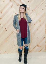 Long Button  Up Boyfriend Cardigan, WHAT'S NEW, vendor-unknown, badhabitboutique