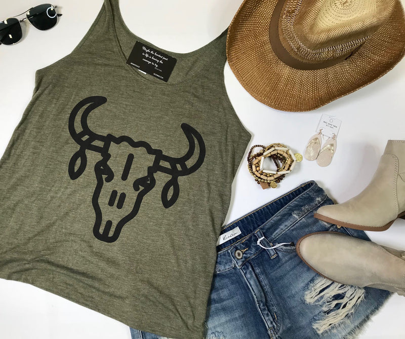 Bull in a China Shop Tank - BAD HABIT BOUTIQUE
