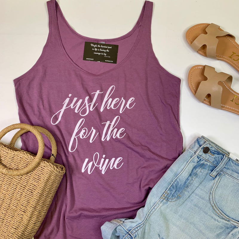 Just Here for the Wine Tank Top - BAD HABIT BOUTIQUE