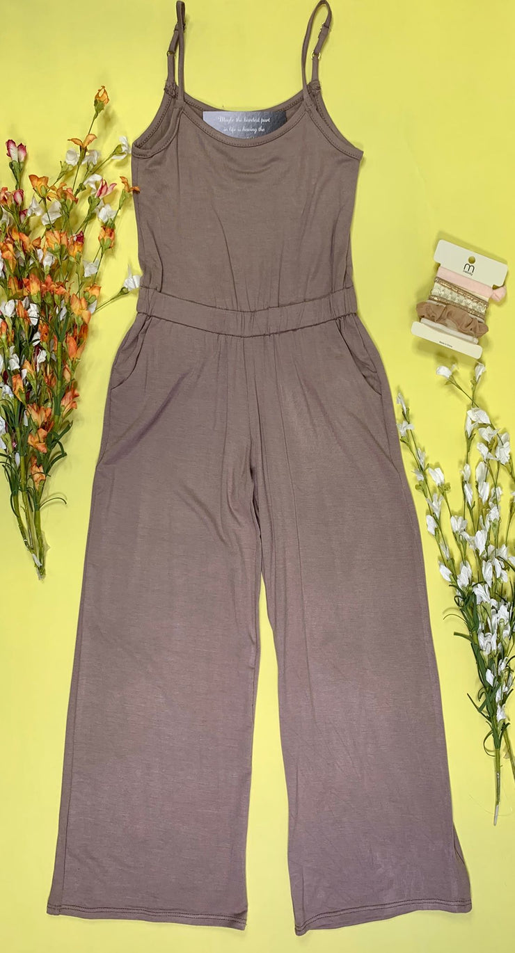 mocha kids jumpsuit