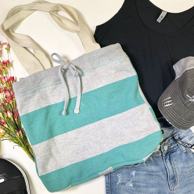 Adventure Awaits Striped Sweater Bag, HANDBAGS, MV Sport, BAD HABIT BOUTIQUE