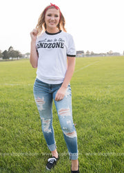 Meet Me in the Endzone, football apparel, football, football graphics, football tee