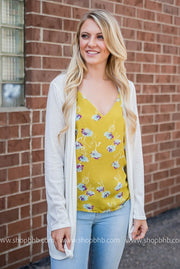 Floral Tank Top | Mustard, SALE, Style Rack, badhabitboutique