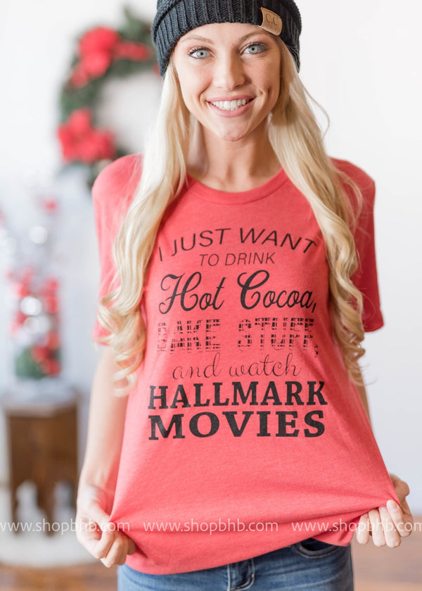 I Just Want to Drink Hot Cocoa T-Shirt - BAD HABIT BOUTIQUE