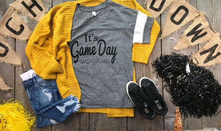 It's Game Day | Gray, GAMEDAY, BAD HABIT APPAREL, badhabitboutique