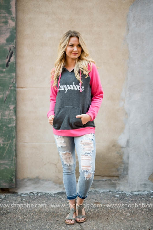 Campaholic Hoodie - Fuschia, CAMP, GRAPHICS, badhabitboutique