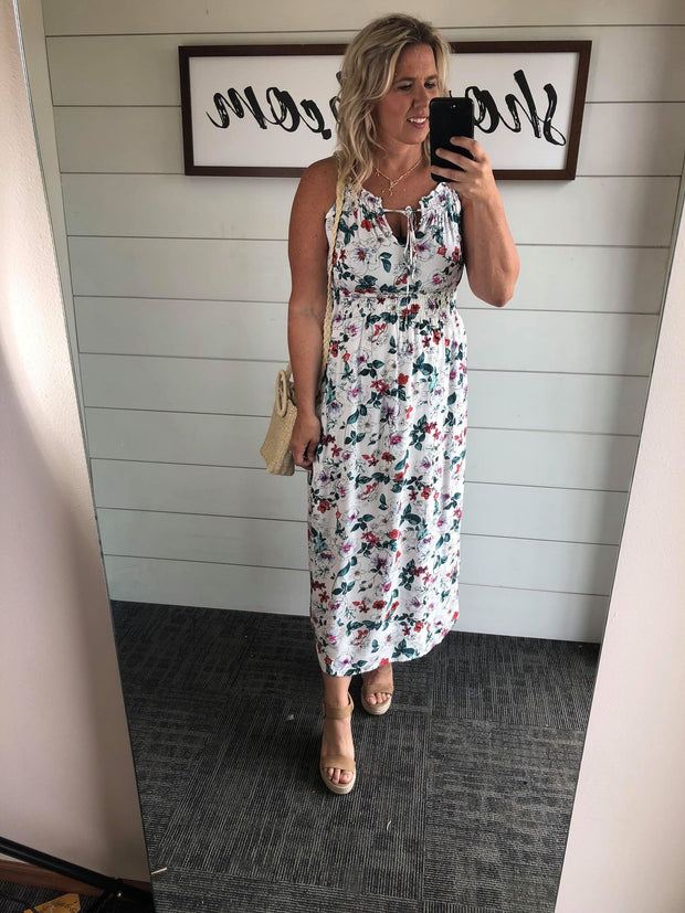 Floral Halter Maxi Dress- FINAL SALE