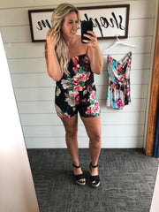 Floral Tube Top Romper- FINAL SALE