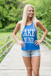 LAKE BOUND TANK - BLUE, LAKE, GRAPHICS, badhabitboutique