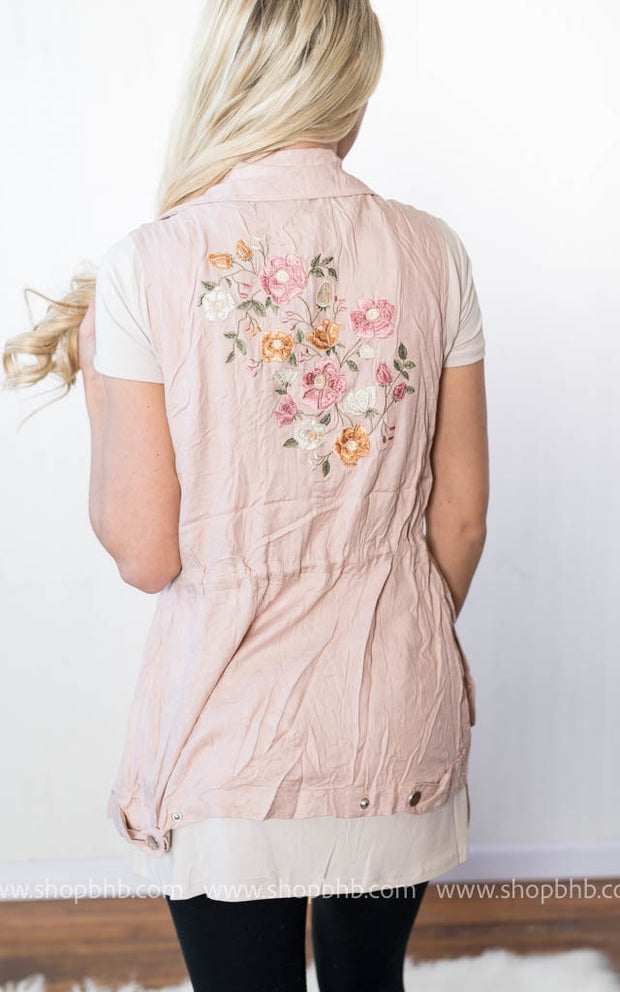 Embroidered Vest, SALE, vendor-unknown, badhabitboutique