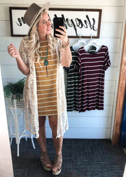 Relaxed Fit Stripe Dress