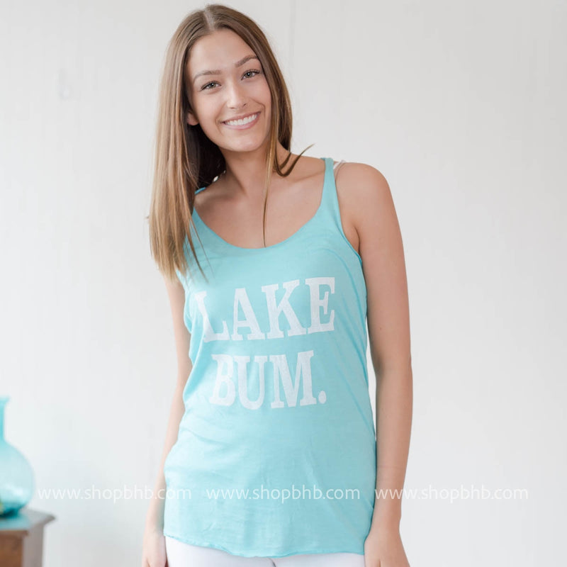 LAKE BUM TANK - AQUA - BAD HABIT BOUTIQUE