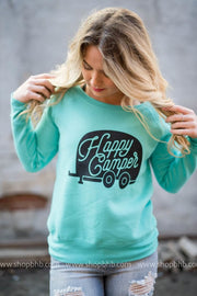 Happy Camper Slouchy Sweatshirt Fleece, CAMP, GRAPHICS, badhabitboutique