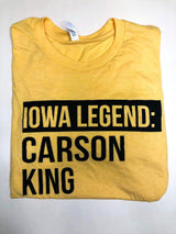 IOWA LEGEND CARSON KING, TEE, ADDICTED INK, BAD HABIT BOUTIQUE