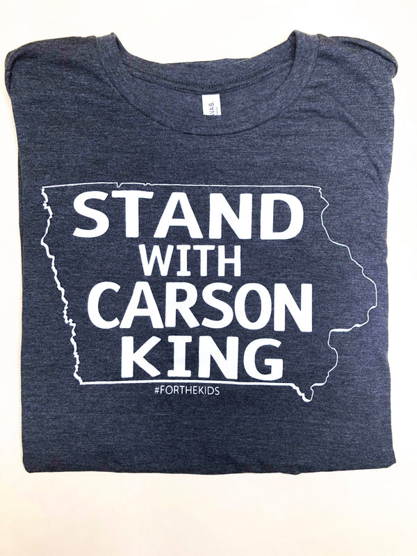 STAND WITH CARSON KING, TEE, ADDICTED INK, BAD HABIT BOUTIQUE