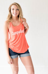 Campaholic Racerback Tank Top - Orange - BAD HABIT BOUTIQUE