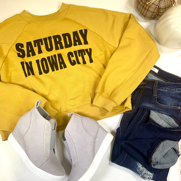 Saturday In Iowa City Cropped Sweater