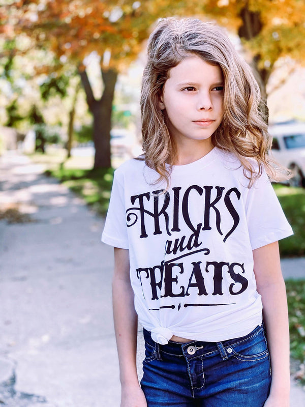 Tricks and Treats White | Youth, CLOTHING, BAD HABIT APPAREL, BAD HABIT BOUTIQUE