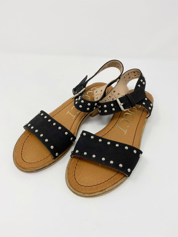 black studded sandals, sandals, black sandals, summer sandals