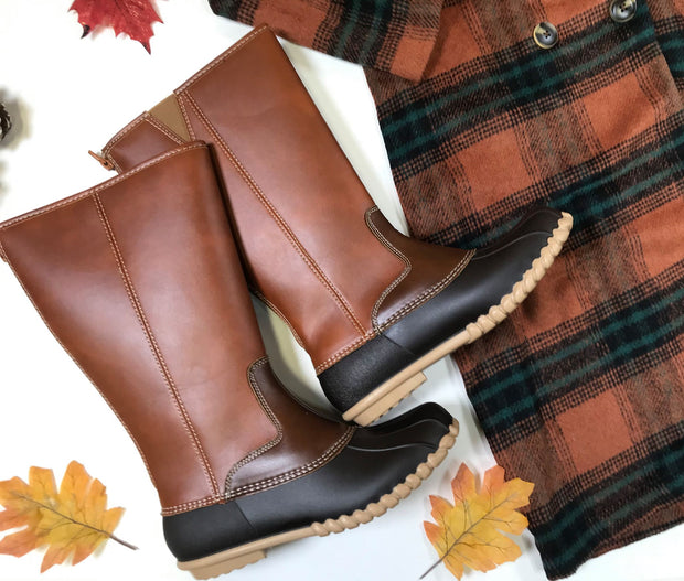 Brown Tall Duck Boots FINAL SALE, SHOES, OLEM, BAD HABIT BOUTIQUE
