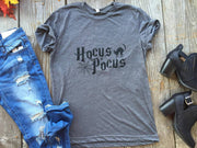 Hocus Pocus T-Shirt  | Gray, HALLOWEEN, GRAPHICS, badhabitboutique