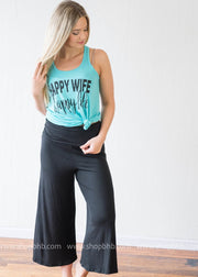 Happy Wife Happy Life Tank - turquiose, MOM COLLECTION, GRAPHICS, badhabitboutique