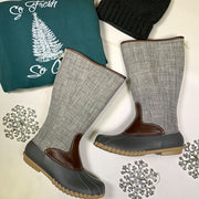 Outlander Gray Tall Duck Boots- Autumn 21, SHOES, OLEM, BAD HABIT BOUTIQUE