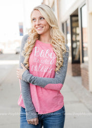 Pink Baby its Cold Out Baseball Top, CLOTHING, BAD HABIT APPAREL, BAD HABIT BOUTIQUE