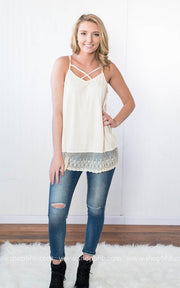 Criss Cross Lace Layering Tunic, SALE, Llove, badhabitboutique
