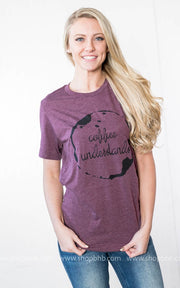Coffee Understands Tee- Burgundy, GRAPHICS, BAD HABIT APPAREL, badhabitboutique