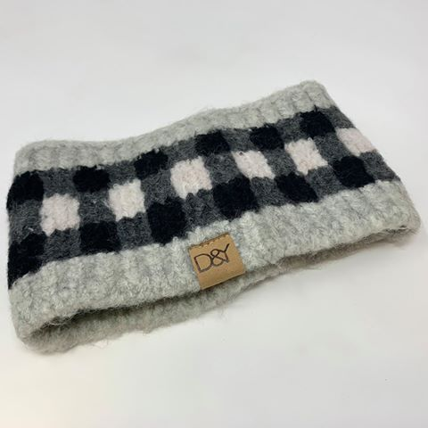 Buffalo Plaid Headband- David & Young, ACCESSORIES, David & Young, BAD HABIT BOUTIQUE