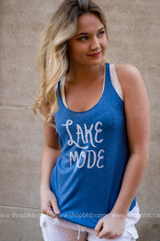Lake Mode Tank - blue, LAKE, GRAPHICS, badhabitboutique