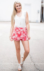 Tropical Shorts | Red