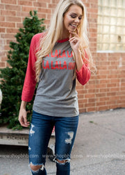 (WS) FaLaLa Wine Shirt, CHRISTMAS COLLECTION (WS), SALE, BAD HABIT BOUTIQUE