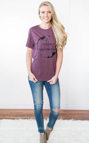 Coffee Understands Tee- Burgundy, COFFEE, BAD HABIT APPAREL, BAD HABIT BOUTIQUE