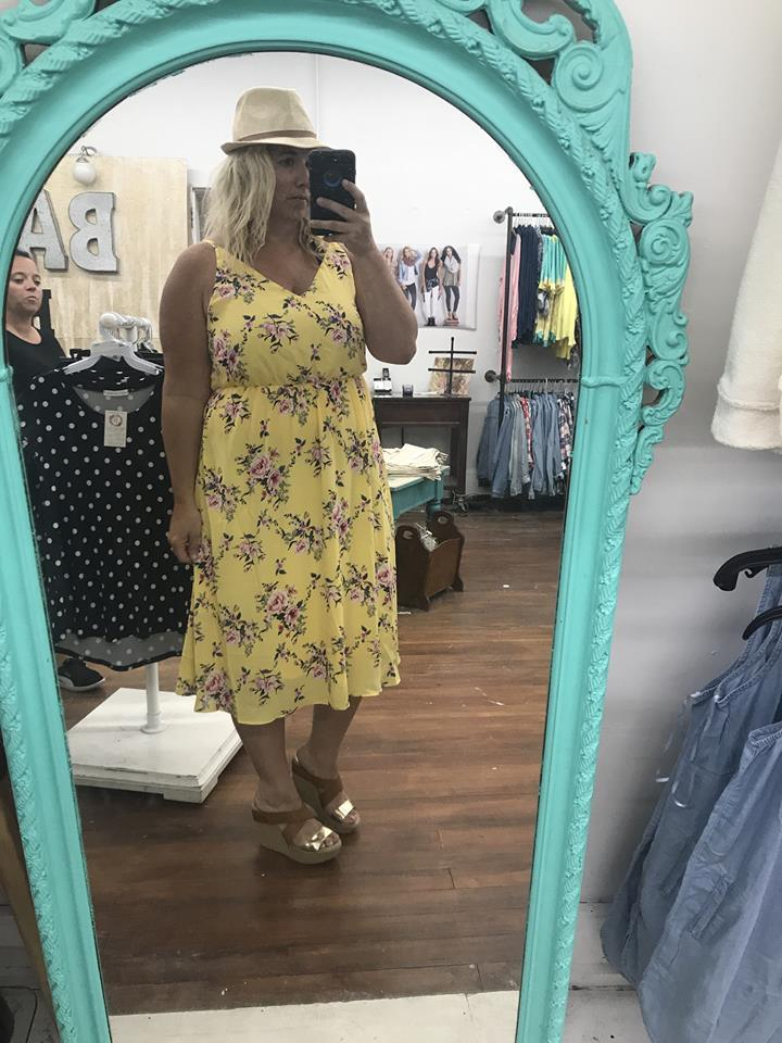 Curvy Girl Floral Dress | Yellow, SALE, vendor-unknown, badhabitboutique