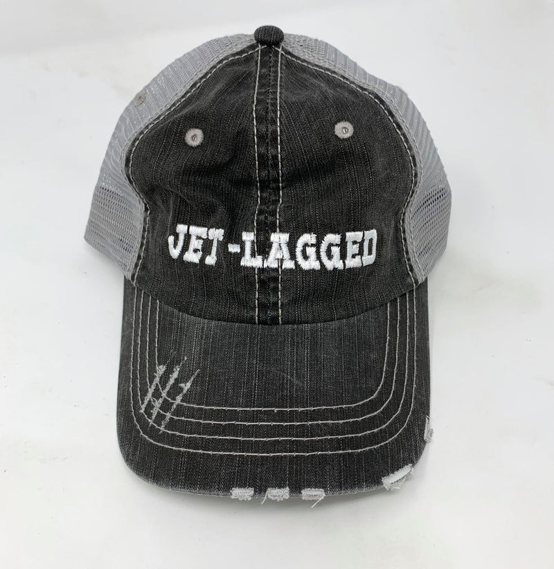 Jet-Lagged Trucker Hat, ACCESSORIES, ADDICTED INK, BAD HABIT BOUTIQUE