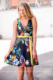 The Tropical Dress | Navy