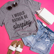 Rather Be Sleeping Tee - Grey, CLOTHING, BAD HABIT APPAREL, BAD HABIT BOUTIQUE